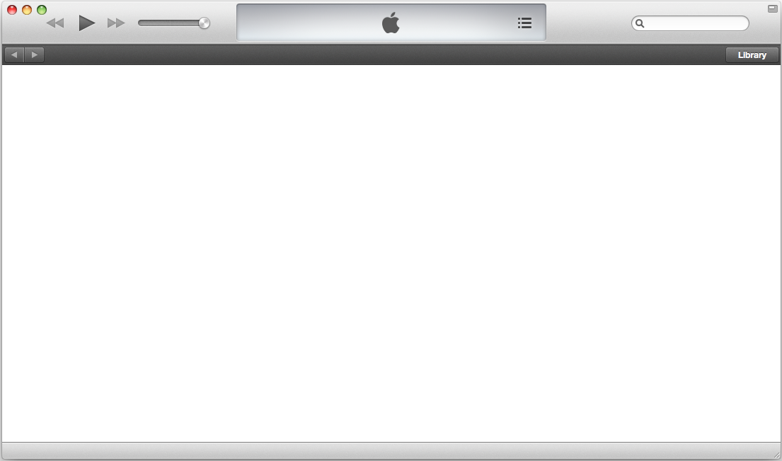 Mac iTunes Store Is Showing Blank White Screen